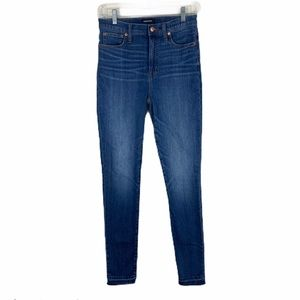 "J. Crew 10"" High-Rise Toothpick Skinny Jeans Tall"